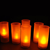 12 - LED Candle Light casamento da vela quente Amarelo ou Presentes do partido