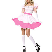 Sexy Pink Princess Peach Toadstool Halloween Costume(4Pieces)