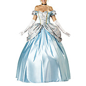 Fortryllende Princess Cinderella Elite Collection Voksen Halloween Costume (4Pieces)