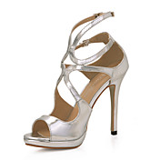 Beautiful Leatherette Stiletto Heel Sandals With Buckle Party/Evening Shoes