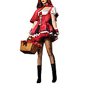 Sexy Adult Little Red Riding Hood Dress Halloween Costume (2pieces)