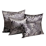 Set of 4 Elegant Floral Polyester Decorative Pillow Cover