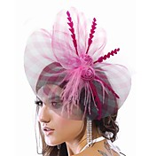 Elegant Nylon With Feather Women's Fascinators