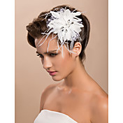 Gorgeous Tulle Wedding Bridal White Flower/ Corsage/ Headpiece