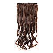 18 Inch Clip In/On  Long Curly Synthetic Hair Extensions - 3 Colors Available