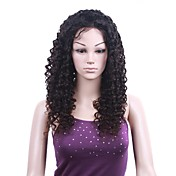 Mono Top With Stretch Lace At Back Indian Remy Hair 22 Inch Regular Curly Front Hand-tied Wigs