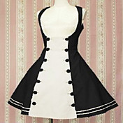 Sleeveless Knee-length Double-breasted Cotton Sailor Lolita Dress