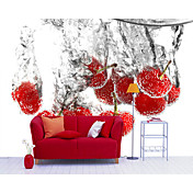Red Object Contemporary Graphics Mural
