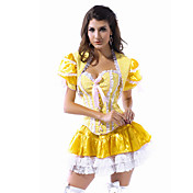 Beauty Adult Womens Sexy Belle Fairytale Princess Halloween Costume(2 Pieces)