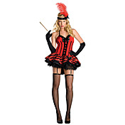 Pretty Red Ball Dress Halloween Costume(3 Pieces)