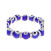 Eye Pattern Colored Glaze Bracelet