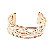 Amazing Braided Alloy With Beading Women's Bracelet (More Colors)