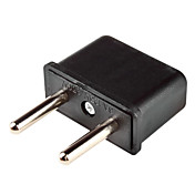 US Plug to EU Plug Power Adapter for iPhone 5(Black)