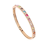 Unique 18K Gold Plated With Crystal Women's Bracelet (More Colors)