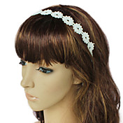 Handmade White Flower Pattern Lace Country Lolita Headdress