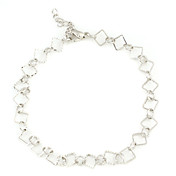 Interlocking Sliver Plated Anklet