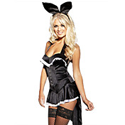 Sexy Black Bunny Girl Dress Halloween Costume(2 Pieces)