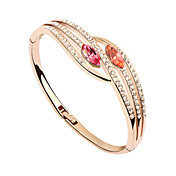 Gorgeous 18K Gold Plated With Crystal Women's Bracelet (More Colors)
