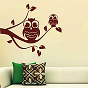 Two Owls Branch Wall Stickers