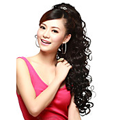 Claw Clip Synthetic Wavy Extra Long Black Ponytails Hair Pieces