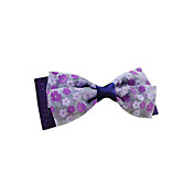 Handmade Purple Satin and Chiffon 10cm Bow Sweet Lolita Headdress