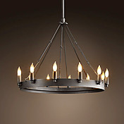60W E27 Retro Style Iron Pendent Light met 12 Lichten in Candle Feature