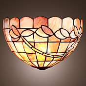 Tiffany Style Wall Light with Floral Pattern