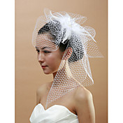 Unique Bridal Net With Feather Women's Birdcage Veils
