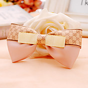 Handmade Pink Coffee Satin 10cm Bow Sweet Lolita Headdress