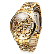 Men's Alloy Analog Mechanical Casual Watch (Gold)