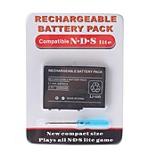 bateria recarregvel para Nintendo DS Lite + chave de fenda (2000mAh)