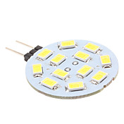 G4 6W 12x5630 SMD 500-560LM 6000-6500K Natural White Light LED Spot Bulb (12V)