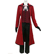 traje cosplay inspirado preto morte mordomo Grell Sutcliff