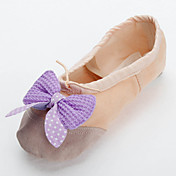 Beautiful Handmade Canvas With Butterfly Dance Shoes Split-sole Ballet Slipper For Kids