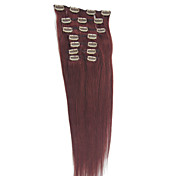 20 Inch 9 Pcs 100% Indian Remy Hair Silky Straight Clip In Hair Extension 26 Colors to Choose