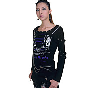 Printed Skeleton Demon Cotton Punk Lolita T-shirt