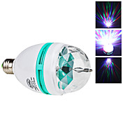 Sound Controlled E27 3W Colorful Light Autorotation LED Bulb for Disco Party Stage (85-265V)