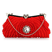 Shining Satin with Crystal Evening Handbag/Clutches(More Colors)