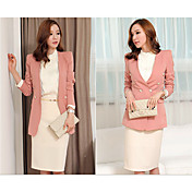 ALAN Double Breast Long Sleeve Slim Blazer (More Colors)