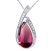 Stylish 925 Silver With Crystal Women's Necklace