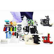 2 Tattoo Machine Guns Kit voor Voering en arcering met 7 * 30ml inkt