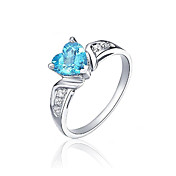 Charming Sterling Silver Topaz Ring(0.85 carat)(6*6mm)