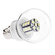 B22 5W 27x5050 SMD 380-400LM 6000-6500K Natural White Light LED Ball Bulb (110V/220V)