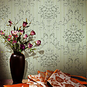 Retro Damask Fiberdug Wall Paper 1301-0013