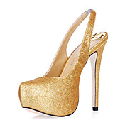 ZSA-ZSA - Sandlia Aberta Salto Stiletto com Glitter Brilhante