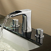 Sprinkle® by Lightinthebox - Two Handles Widespread Solid Brass Bathroom Sink Faucet-Chrome Finish