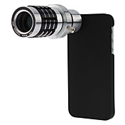 Detachable 12X Telephoto Lens Set with Back Case for iPhone 5