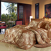 Fabian Jacquard Full / Queen Duvet de 4 piezas cover set