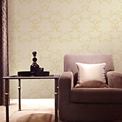 Retro Damask Fiberdug Wall Paper 1301-0047