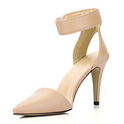 Elegant Leatherette Stiletto Heel Pointy Toe Pumps With Velcro Party / Evening Shoes